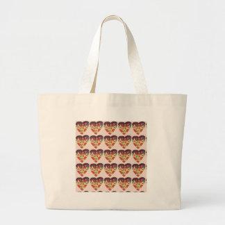 i love pizza large tote bag