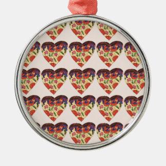i love pizza metal ornament
