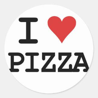 I love Pizza Round Sticker