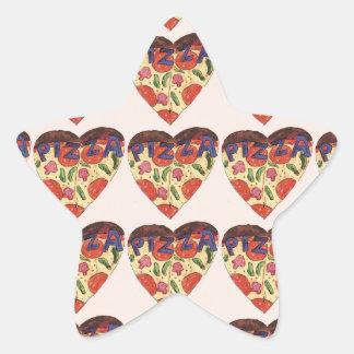 i love pizza star sticker
