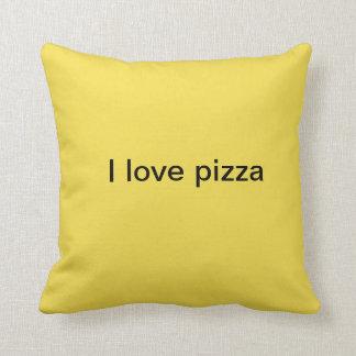 i love pizza throw pillow