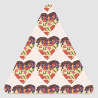 i love pizza triangle sticker