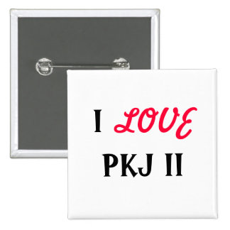 I, LOVE, PKJ II 2 INCH SQUARE BUTTON
