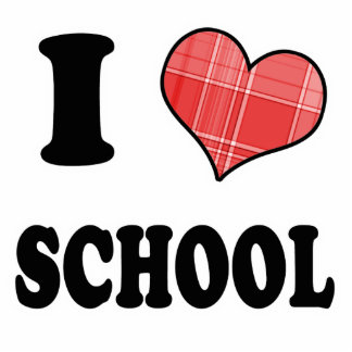 I Love (Plaid Heart) School Cut Outs