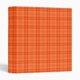 I Love Plaid- Orange 3 Ring Binder