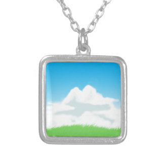 I Love Plains Silver Plated Necklace