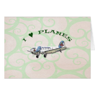 I Love Planes - Dakota DC3 Card