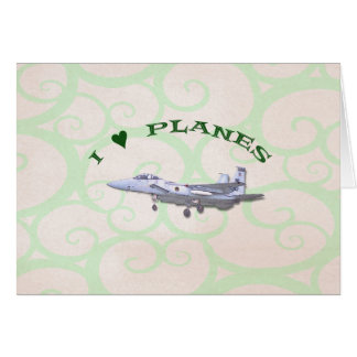 I Love Planes - F15D Eagle Card