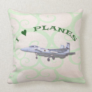 I Love Planes - F15D Eagle Throw Pillow