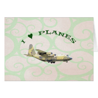 I Love Planes - Hercules Aircraft Card