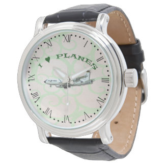 I Love Planes - KC135A Stratotanker - Roman Dial Watch