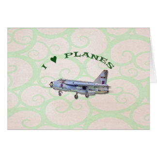 I Love Planes - Lightning Jet Card