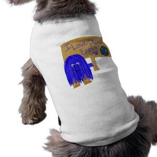 I love planet earth dog shirt