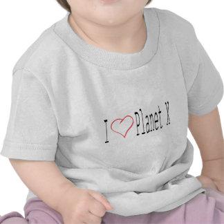 I Love Planet X T Shirts