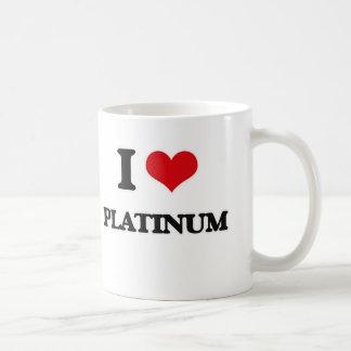 I Love Platinum Coffee Mug