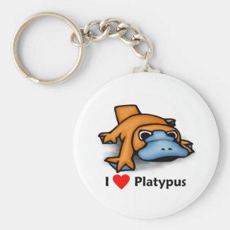 I love Platypus Keychain
