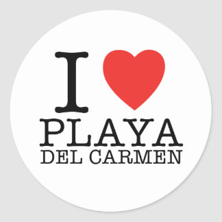 I love Playa del Carmen Classic Round Sticker
