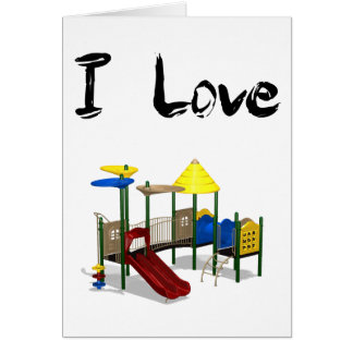 I Love Playground Card