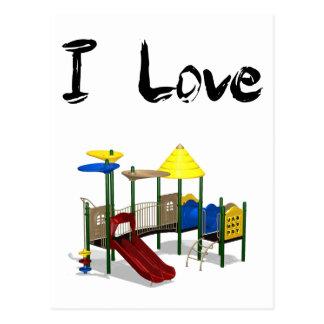 I Love Playground Postcard