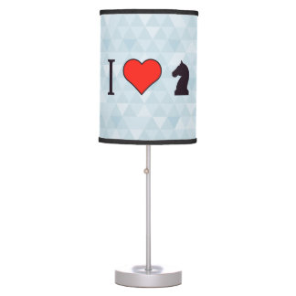I Love Playing Chess Table Lamp