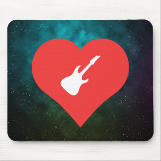 I Love Playing Electric Guitars Mouse Pad