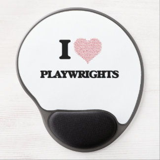 I love Playwrights (Heart made from words) Gel Mouse Pad