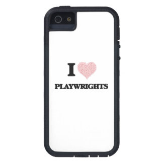 I love Playwrights (Heart made from words) iPhone 5 Case