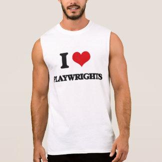 I Love Playwrights Sleeveless Shirts