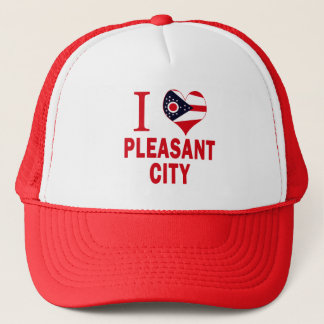 I love Pleasant City, Ohio Trucker Hat