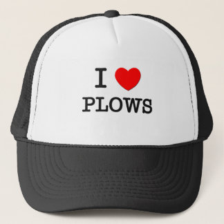 I Love Plows Trucker Hat