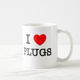 I Love Plugs Coffee Mugs