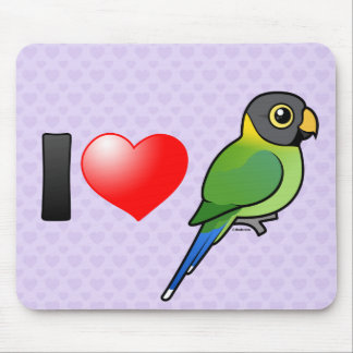 I Love Plum-headed Parakeets (female) Mouse Pad