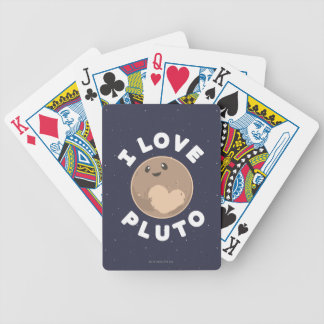 I Love Pluto Bicycle Playing Cards