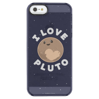 I Love Pluto Clear iPhone SE/5/5s Case