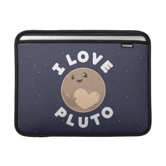 I Love Pluto MacBook Sleeves