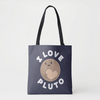 I Love Pluto Tote Bag