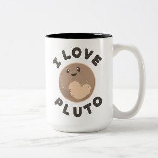 I Love Pluto Two-Tone Coffee Mug