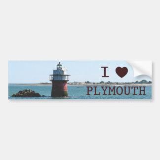 I Love Plymouth Bug Light Bumper Sticker