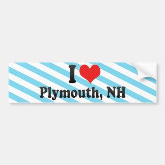 I Love Plymouth, NH Bumper Sticker