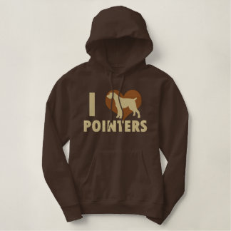 I Love Pointers Embroidered Shirt (Hoodie)