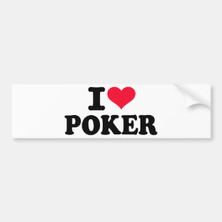 I love Poker Bumper Sticker