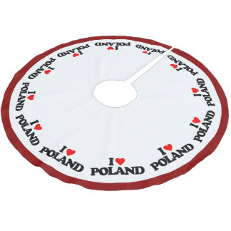 I LOVE POLAND BRUSHED POLYESTER TREE SKIRT
