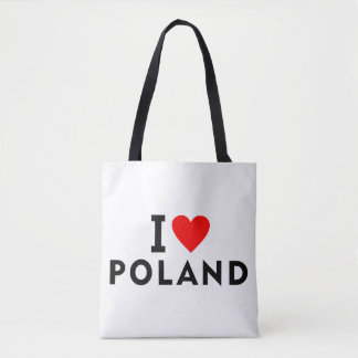 I love Poland country like heart travel tourism Tote Bag