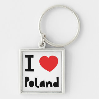 I love Poland Keychain