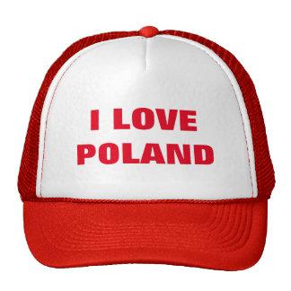 I LOVE POLAND TRUCKER HAT