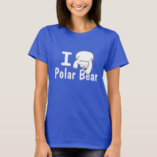 I Love Polar Bear Blue Shirt