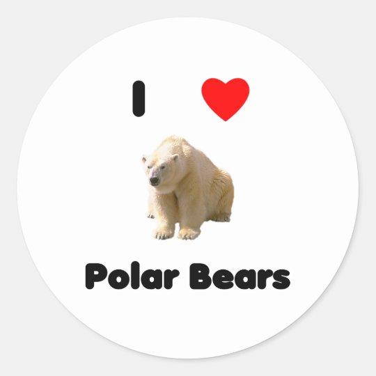 I love polar bears Sticker