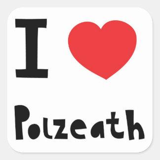 I love Polzeath Square Sticker