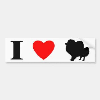 I Love Pomeranians Bumper Sticker