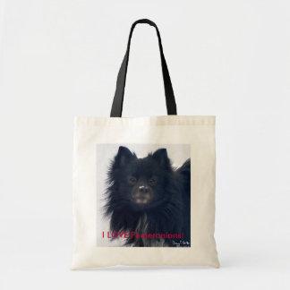 """I LOVE Pomeranians!"" Watercolor Portrait Tote"